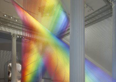 Plexus A1, 2015, Site-specific installation at the Smithsonian American Art Museum's Renwick Gallery,  Thread, painted wood, and hooks